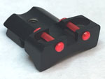 Fiber Optic Fixed Rear Sight For Beretta